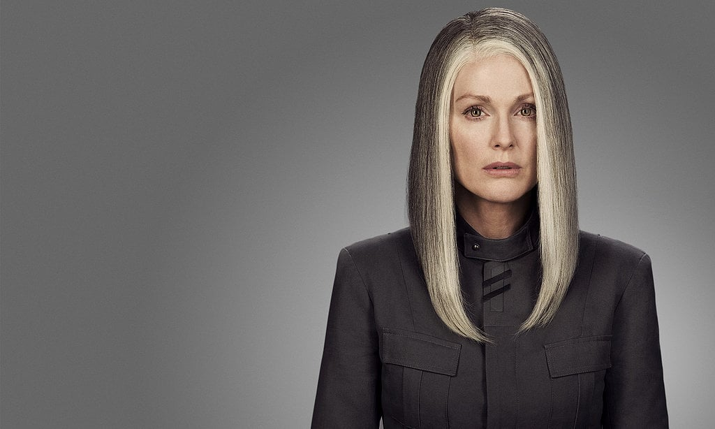 Julianne Moore as President Alma Coin.
