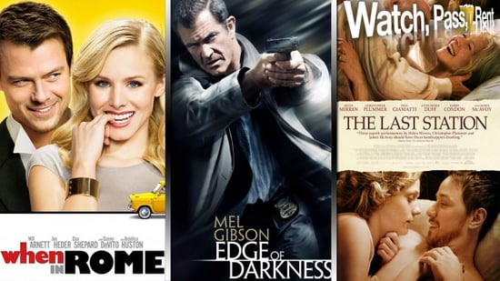 When in Rome Movie Review, Edge of Darkness Movie Review, and The Last Station Movie Review