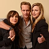 Ellen Page, Alexander Skarsgard, and Brit Marling posed for a portrait to promote their new movie, The East.