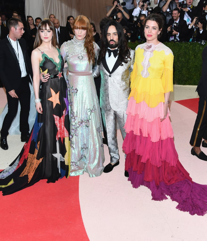 Dakota Johnson, Florence Welch, Alessandro Michele, and Charlotte Casiraghi