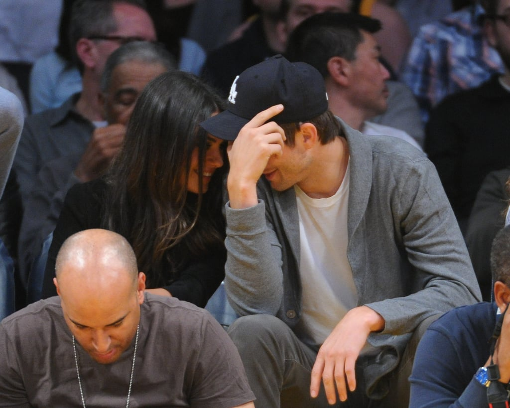 Ashton and Mila Show PDA at a Lakers Game With Special Usher Will Ferrell