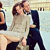 Derek Blasberg and Milla Jovovich made a superstylish pair at the Liaisons au Louvre in Paris. Source: Instagram user derekblasberg