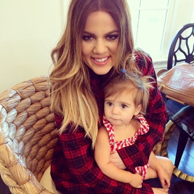 Birthday girl Khloé Kardashian got in an adorable squeeze with her niece Penelope. Source: Instagram user kourtneykardash