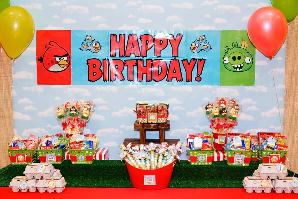 Favor Table Angry Birds Kid S Birthday Party Popsugar Family