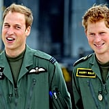 They flashed cute grins during a photocall at Royal Air Force Shawbury in June 2009.