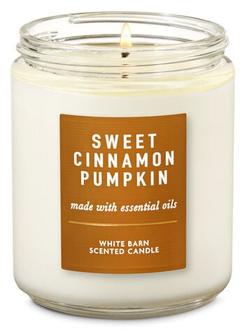 Sweet Cinnamon Pumpkin Single Wick Candle