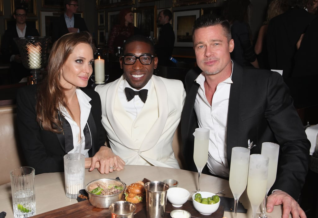 Angelina and Brad held court with Tinie Tempah at E One and Grey Goose's bash.