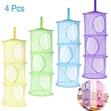 4-Piece Hanging Mesh Space Bags