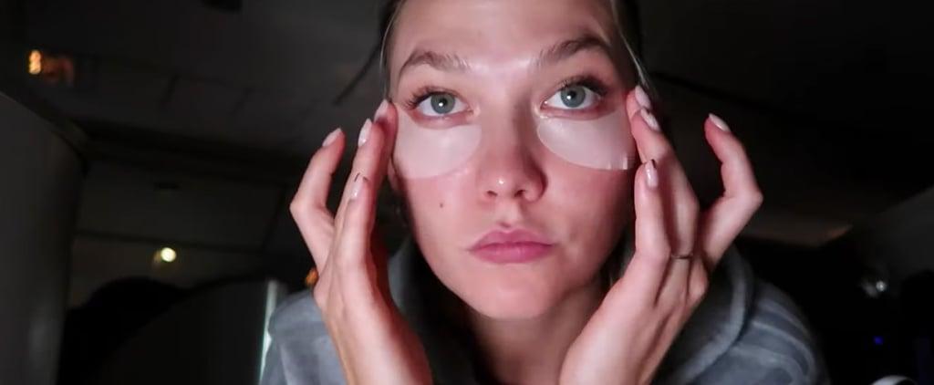 Karlie Kloss Airplane Makeup Routine Video
