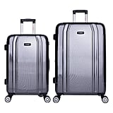 InUSA SouthWorld 2-Piece Hardside Spinner Luggage Set in Dark Gray Carbon