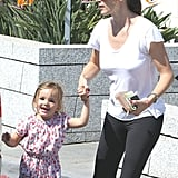 Jennifer Garner and Seraphina Affleck made a stop in Santa Monica.