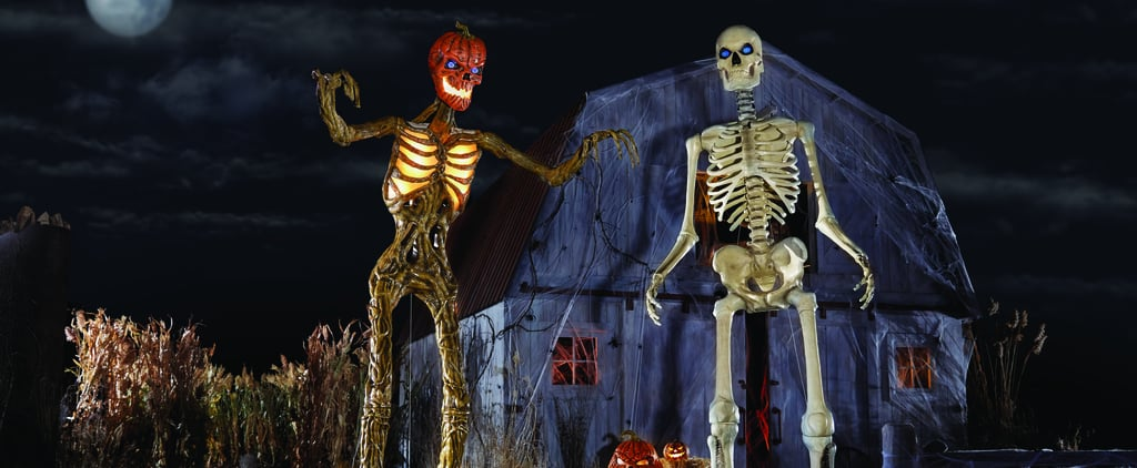 The Home Depot Is Selling Two 12-Foot Skeleton Decorations!