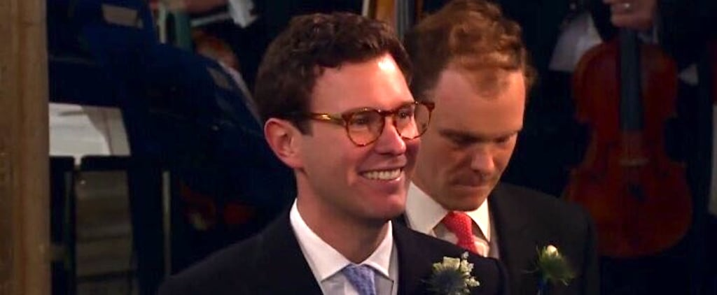 Jack Brooksbank Wearing Glasses to See Eugenie at Wedding