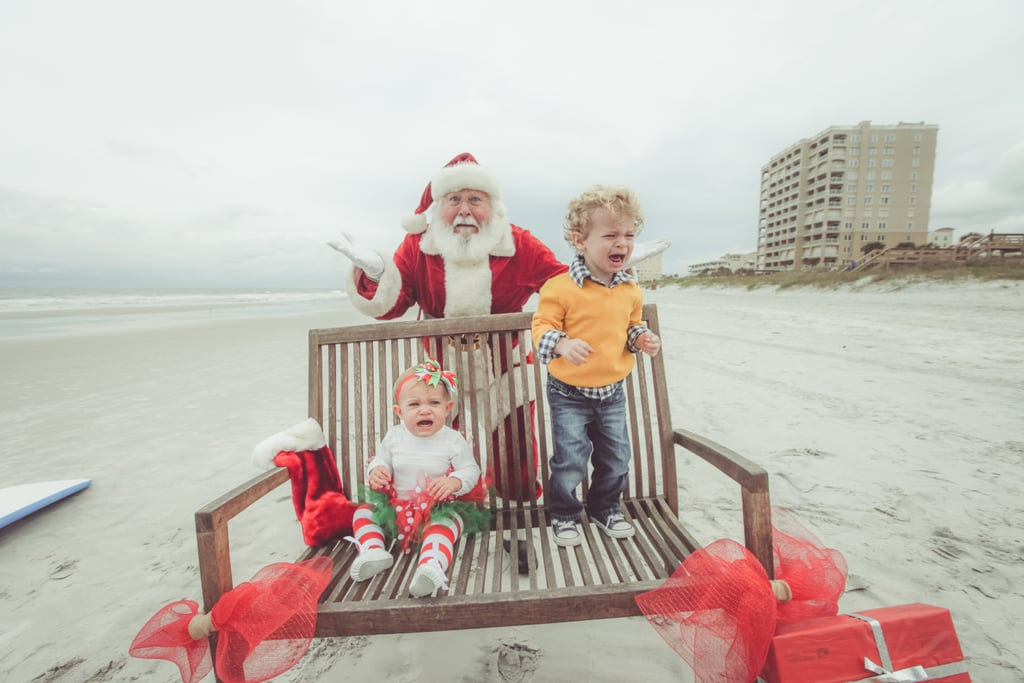 """BUT SANTA DOESN'T BELONG ON THE BEACH!"""