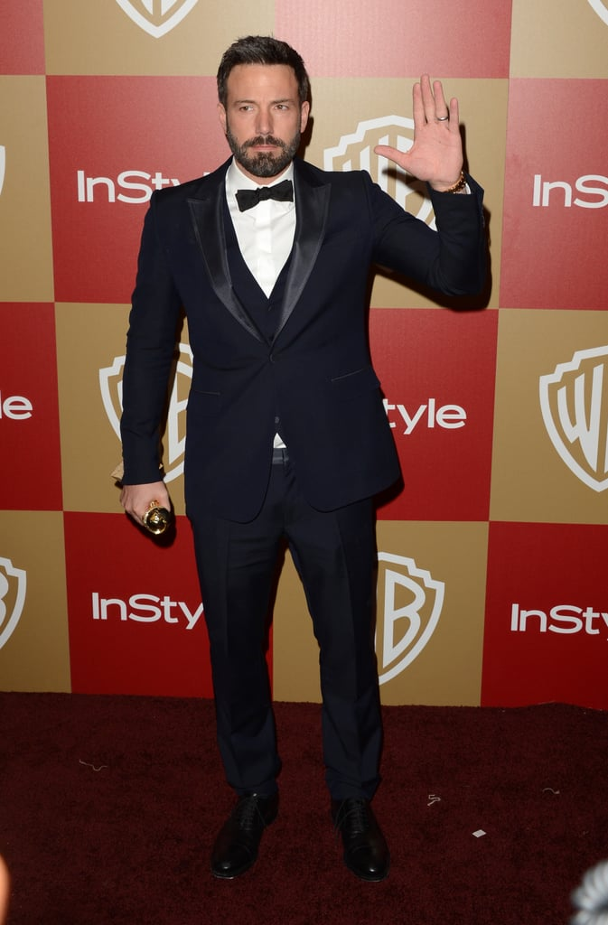 Ben Affleck waved to the cameras.