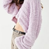 Urban Outfitters Leela Fuzzy V-Neck Pullover Sweater