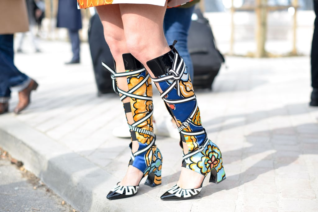 Street Style Shoes And Bags At Paris Fashion Week Fall