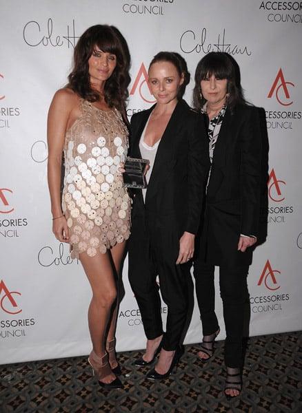 Helena Christensen, Stella McCartney, and Chrissie Hynde, all in Stella McCartney.