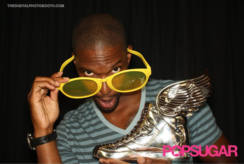 Miami Heat star Chris Bosh showed off his award.