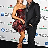 Kate Beckinsale and Len Wiseman dropped by the Warner Music party.