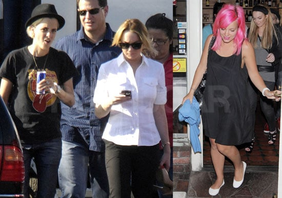 Photos of Lindsay Lohan Out With Samantha Ronson and Lily Allen