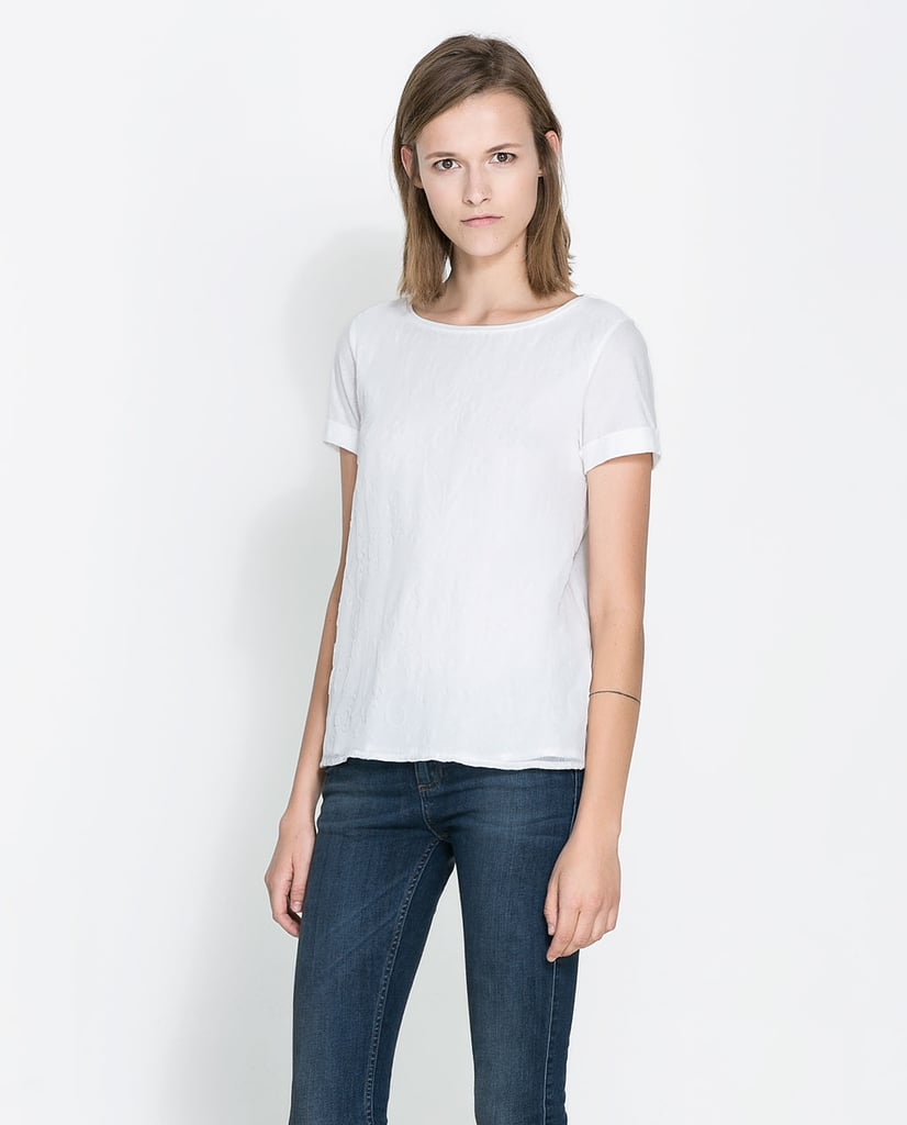 If you live in a white t-shirt out of the office, try bringing the style to work with a similar shape ($36).