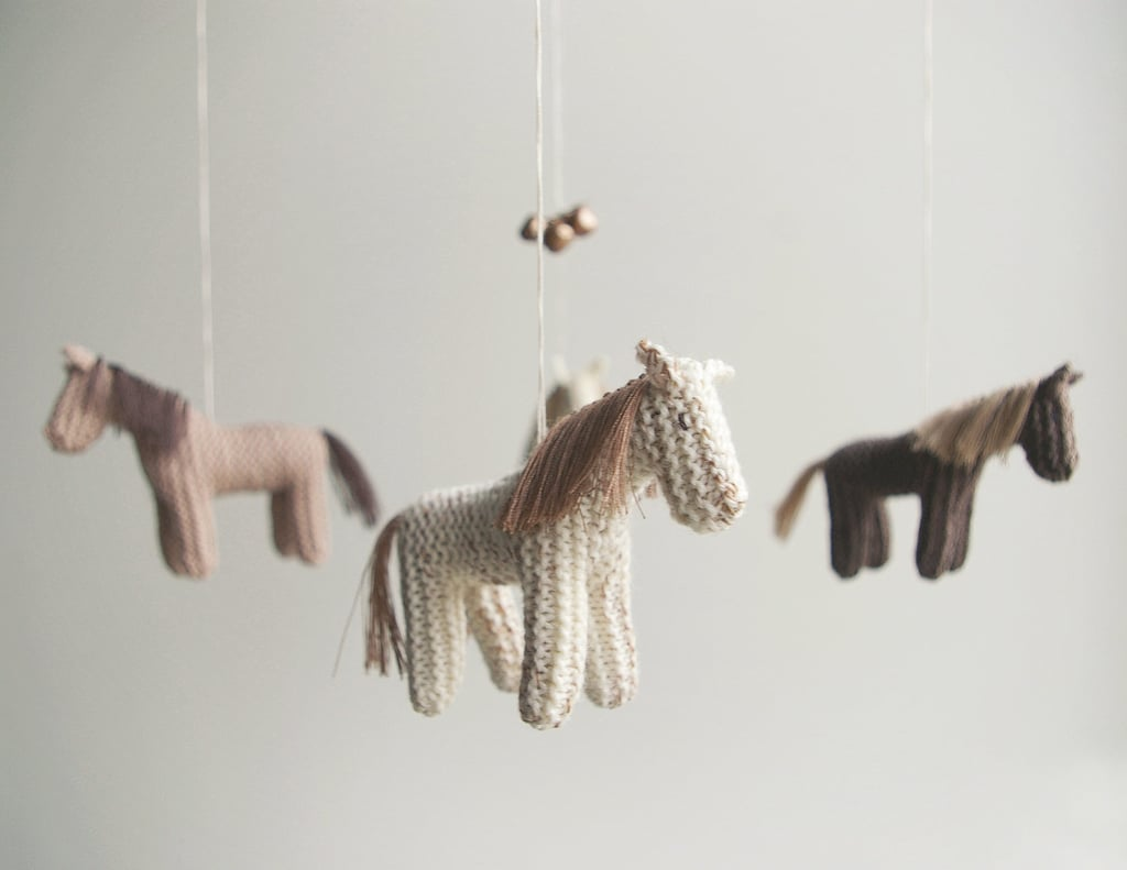Hand-Knit Horse Mobile