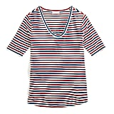 Universal Standard x J.Crew Jersey V-neck T-shirt in Stripe
