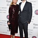 Rachel Zoe and Rodger Berman showed PDA on the red carpet.