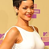 Rihanna smiled for the cameras on the red carpet.