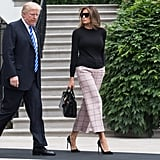 Melania Carrying a Crocodile Hermès Birkin Bag