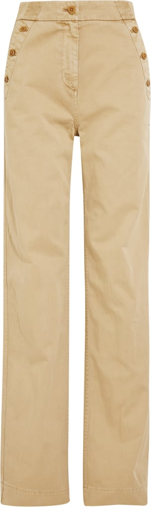 Sailor Cotton-Twill Wide-Leg Pants ($100)