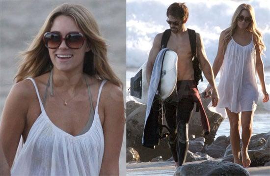Lauren Conrad on the Beach with Kyle Howard