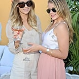 Lauren Conrad and Lauren Bosworth raised a glass at the Veuve Clicquot Polo Classic.