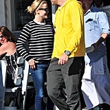 Reese Witherspoon and Jim Toth showed their stripes in Feb. 2011.