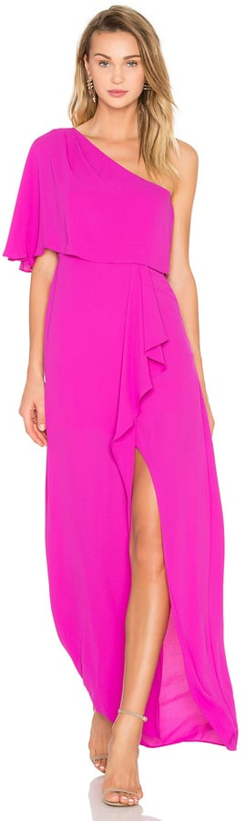 BCBGMAXAZRIA Secha One Shoulder Maxi Dress ($298)