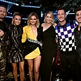 Pictured: Brian Kelley, Brittney Marie Cole, Kelsea Ballerini, Hayley Stommel, Tyler Hubbard, and Andrew Taggart