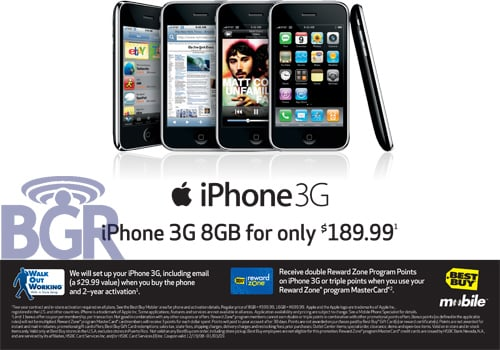 Daily Tech: Best Buy Mobile Puts the iPhone 3G On Sale