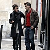 Halle Berry and Olivier Martinez strolled together in Paris.