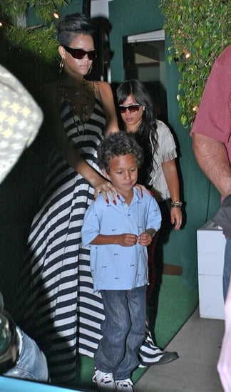 Rihanna out for dinner with family members