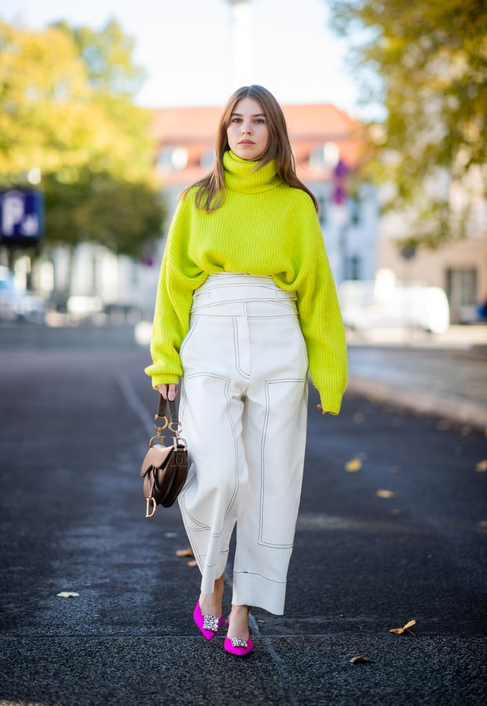 Let Your Neon Turtleneck Sweater Do the Talking