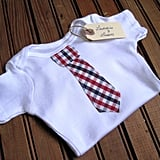 Laddies and Lasses Plaid Necktie Onesie