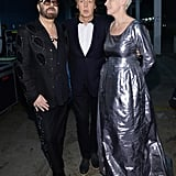 Annie Lennox met up with Paul and David A. Stewart backstage.