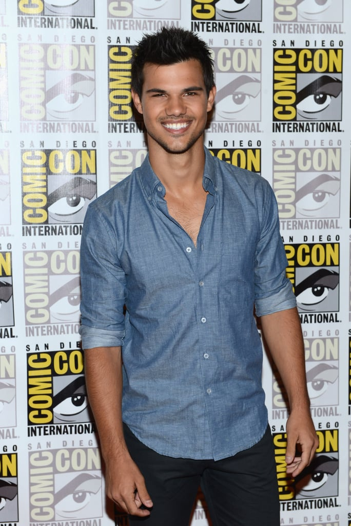 Taylor Lautner took Twilight to Comic-Con.