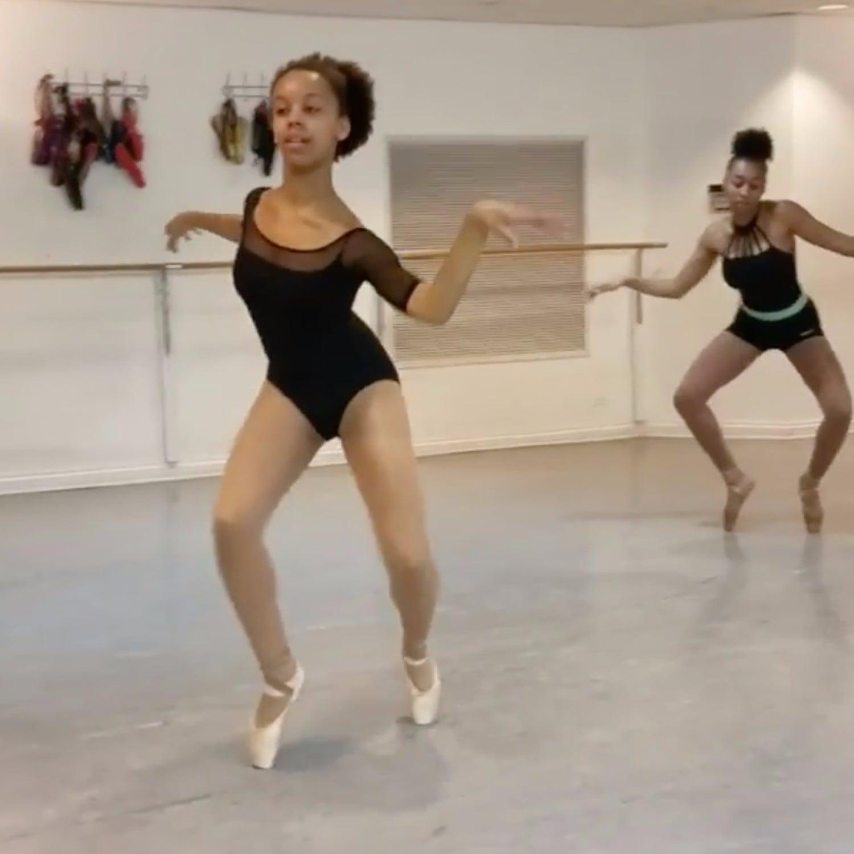 """hiplet ballerinas dancing to """"shape of you""""   popsugar fitness"""