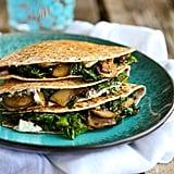 Easy Vegetarian Recipe: Kale, Mushroom, and Goat Cheese Quesadillas