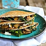 Kale, Mushroom, and Goat Cheese Quesadillas