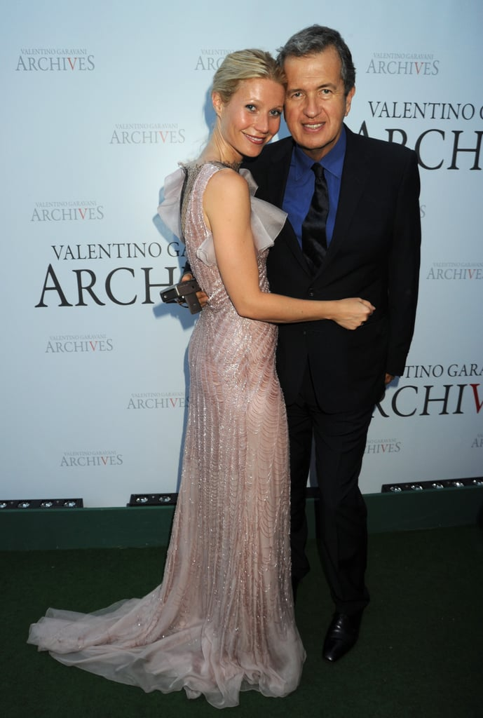 Gwyneth Paltrow, Jessica Alba and Claire Danes were just a few of the celebs in France last night celebrating Valentino Garavani's dinner soiree in Versailles. The flamboyant Italian designer may have left his namesake label in the capable hands of creative directors Maria Grazia Chiuri and Pier Paolo Piccioli, but that didn't stop him from attracting a star-studded crowd. Joining the A-listers were also fashion heavyweights including Christian Louboutin, Marc Jacobs, Mario Testino and Margherita Missoni. Bellissimo! To catch all the glamour, click through our gallery.