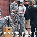 Kristen Stewart filmed a scene on Thursday.
