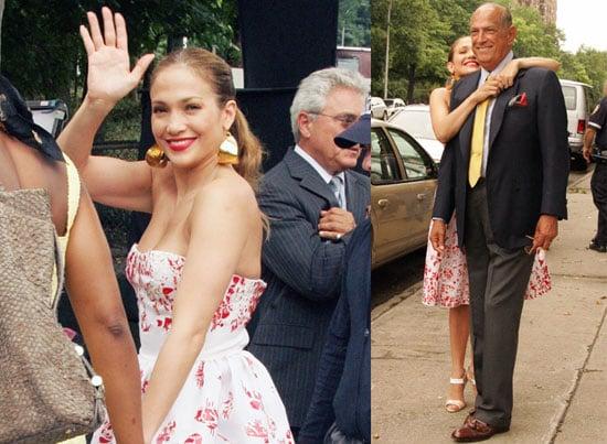 Photos of Jennifer Lopez with Oscar de la Renta in NYC Working On Photo shoot